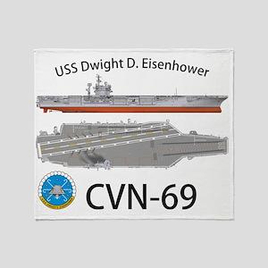 CVN-69 USS Dwight D Eisenhower Throw Blanket