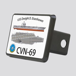CVN-69 USS Dwight D Eisenh Rectangular Hitch Cover