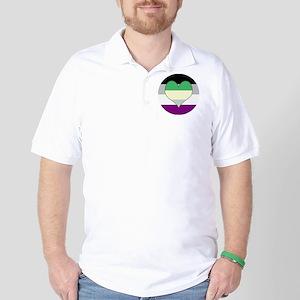 Aromantic Asexual Heart #2 Golf Shirt