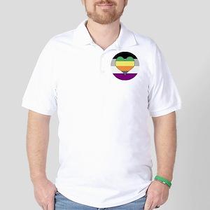 Aromantic Asexual Heart #1 Golf Shirt