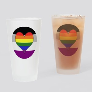 Homoromantic Asexual Heart Drinking Glass
