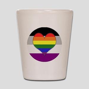 Homoromantic Asexual Heart Shot Glass