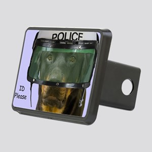 Rottweiler Police Birthday Rectangular Hitch Cover