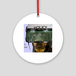 Rottweiler Police Birthday by Focus Round Ornament