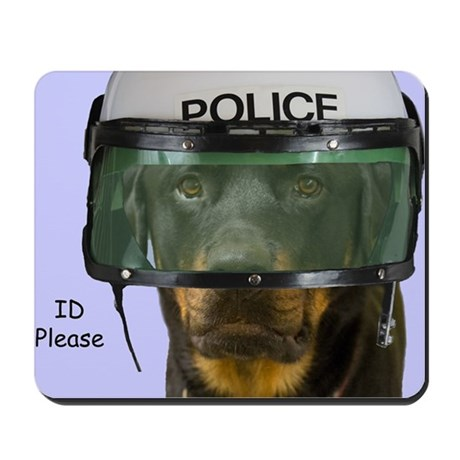 Rottweiler Police Birthday by Focus for Mousepad
