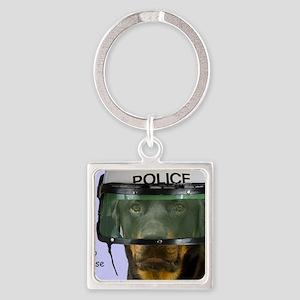 Rottweiler Police Birthday by Focu Square Keychain