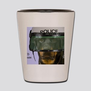 Rottweiler Police Birthday by Focus for Shot Glass