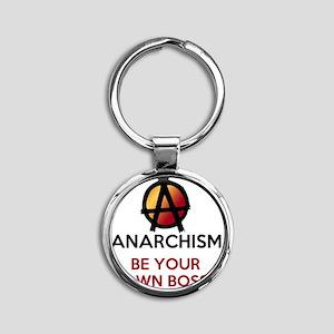 ANARCHISM Round Keychain