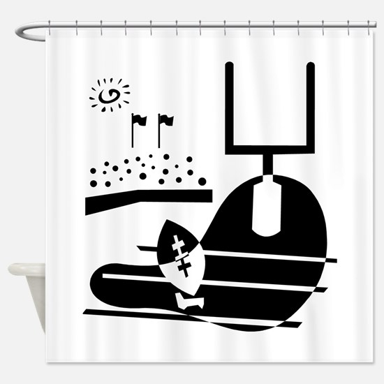 GOALPOST_3.png Shower Curtain