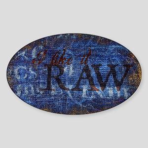 Raw Sticker (Oval)