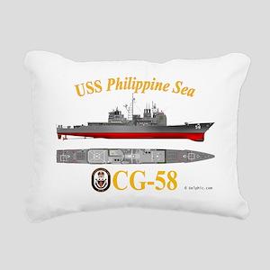 CG-58 USS Philippine Sea Rectangular Canvas Pillow