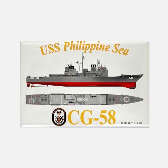 CG-58 USS Philippine Sea Rectangle Magnet