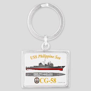 CG-58 USS Philippine Sea Landscape Keychain