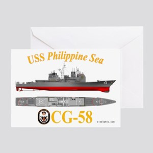 CG-58 USS Philippine Sea Greeting Card