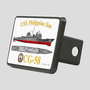 CG-58 USS Philippine Sea Rectangular Hitch Cover