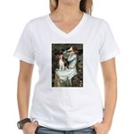 Ophelia & Beagle Women's V-Neck T-Shirt