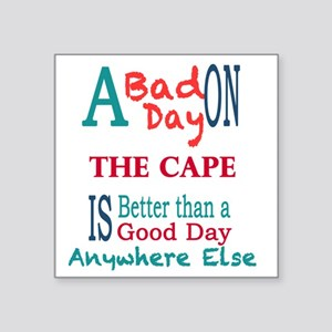 "The Cape Square Sticker 3"" x 3"""