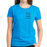Wear Red Support our Troops Women's Dark T-Shirt