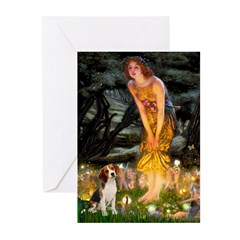 Fairies and Beagle Greeting Cards (Pk of 10)