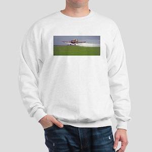 Crop Duster Over Green Field Sweatshirt:
