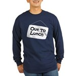 Out to Lunch Long Sleeve Dark T-Shirt