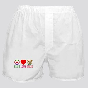 Peace Love South Africa Boxer Shorts