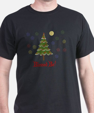 Blessed Be Solstice Tree T-Shirt