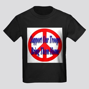 Support Our Troops Bring Them Kids Dark T-Shirt
