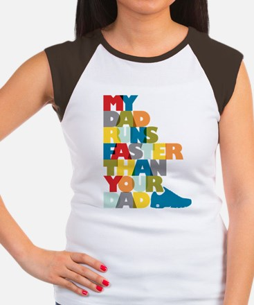 My Dad Runs Faster Than Women's Cap Sleeve T-Shirt