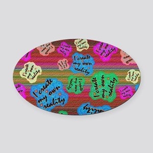 create Reality Oval Car Magnet