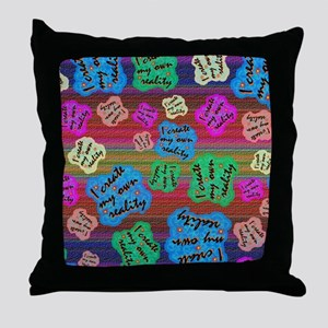 create Reality Throw Pillow