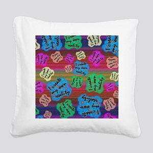 create Reality Square Canvas Pillow