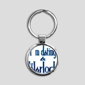 Dating a Warlock Round Keychain