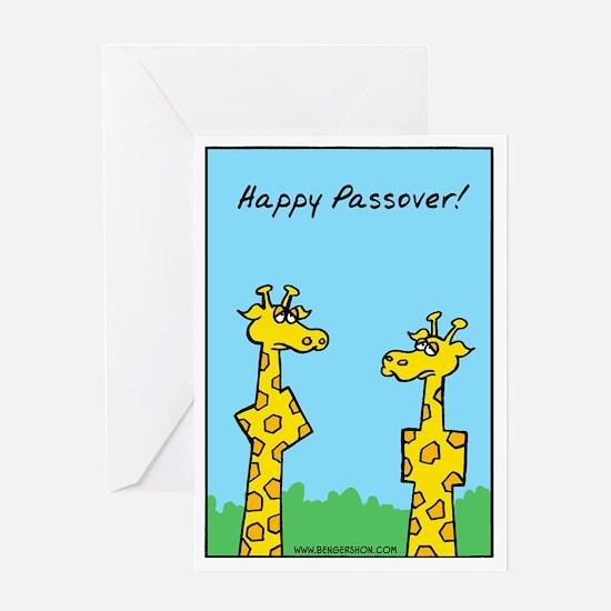 giraffes passover Greeting Card