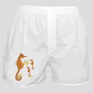 Brown Sea Horses Boxer Shorts