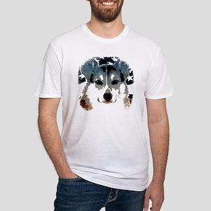 Patriotic Corgi Fitted T-Shirt