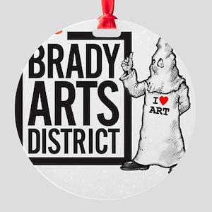 Tate Brady Arts District Round Ornament