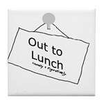 Out to Lunch Tile Coaster