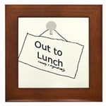 Out to Lunch Framed Tile