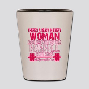 Beast in every woman - Pink Camo Shot Glass