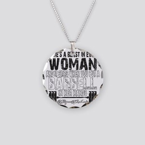 beast in every woman camo sn Necklace Circle Charm