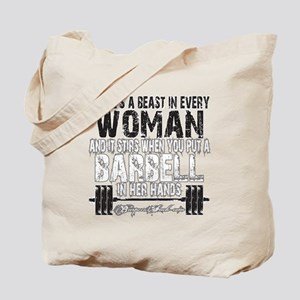 beast in every woman camo snow Tote Bag