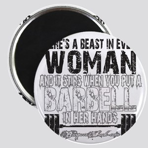 beast in every woman camo snow Magnet