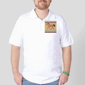 Floral Horse Golf Shirt
