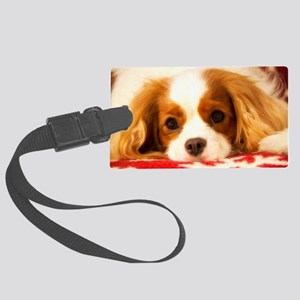 Profile Of A Cavalier King Charl Large Luggage Tag