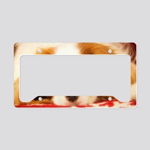 Profile Of A Cavalier King Ch License Plate Holder