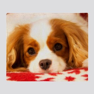 Profile Of A Cavalier King Charles S Throw Blanket