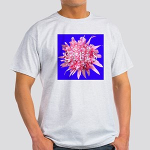 Pink Bromeliad Flower Girls Light T-Shirt