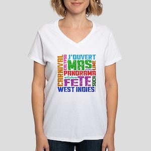 Carnival Keywords Women's V-Neck T-Shirt