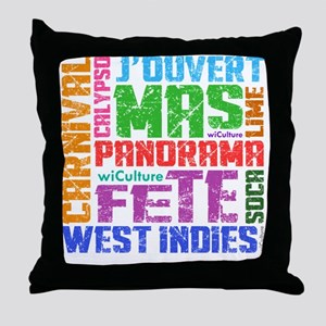 Carnival Keywords Throw Pillow